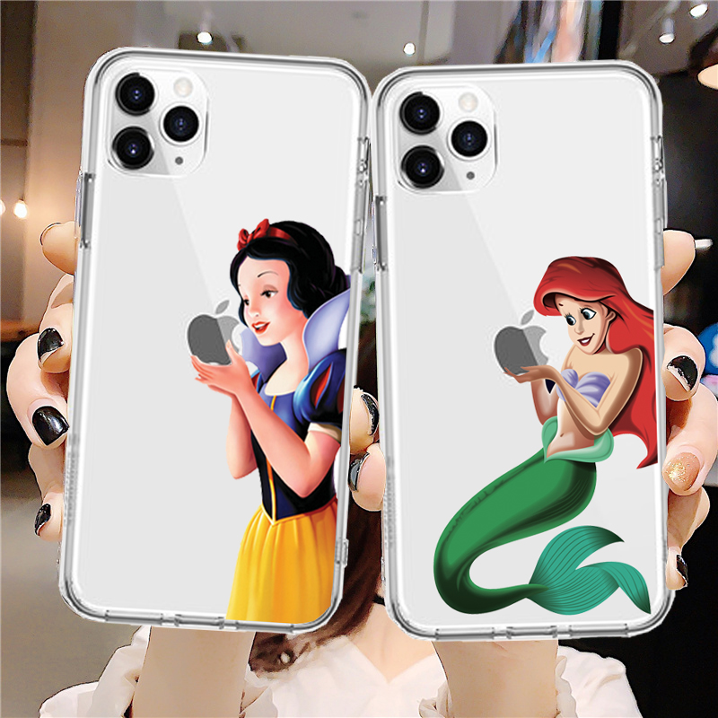 Soft TPU Phone Case For Apple iPhone X XS Max XR Case For iPhone 8 7 6S Plus 5S SE 11Pro Cases Coque Capa Snow White Princess