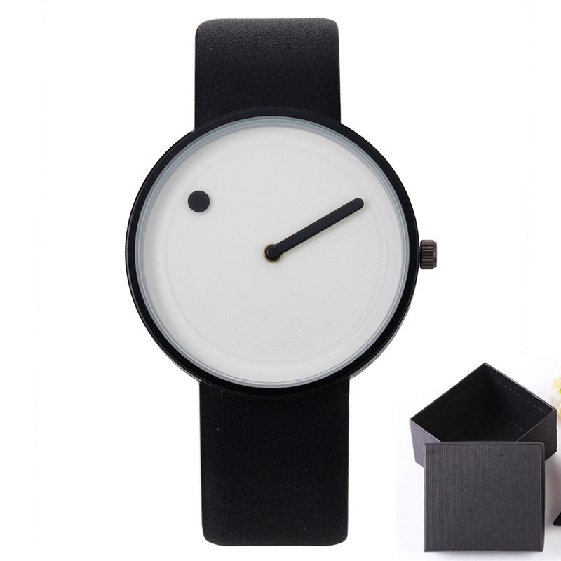 Minimalist style creative wristwatches black & white new design simple stylish quartz fashion watches gift Relogio Feminino