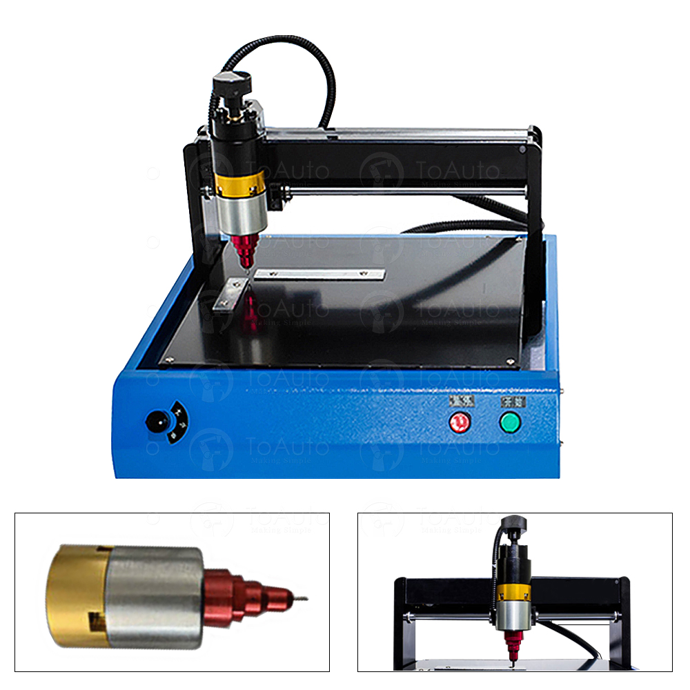 Electronic MetalMarkingEngrving Machine 200*150mm For Industrial Nameplate Dog Tag Steel ID Card & Plastic Engraving Embosser