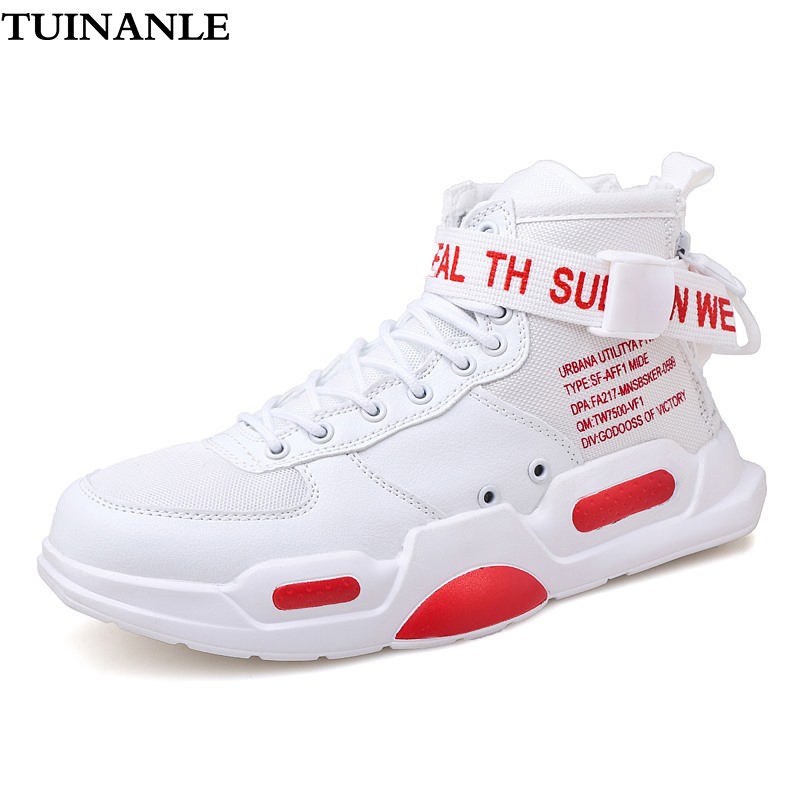 TUINANLE 2020 Casual Sneakers Women Red High Top Sneakers Waterproof PU Autumn Buckle Chunky Lover Shoes Size11 Zapatos De Mujer 1