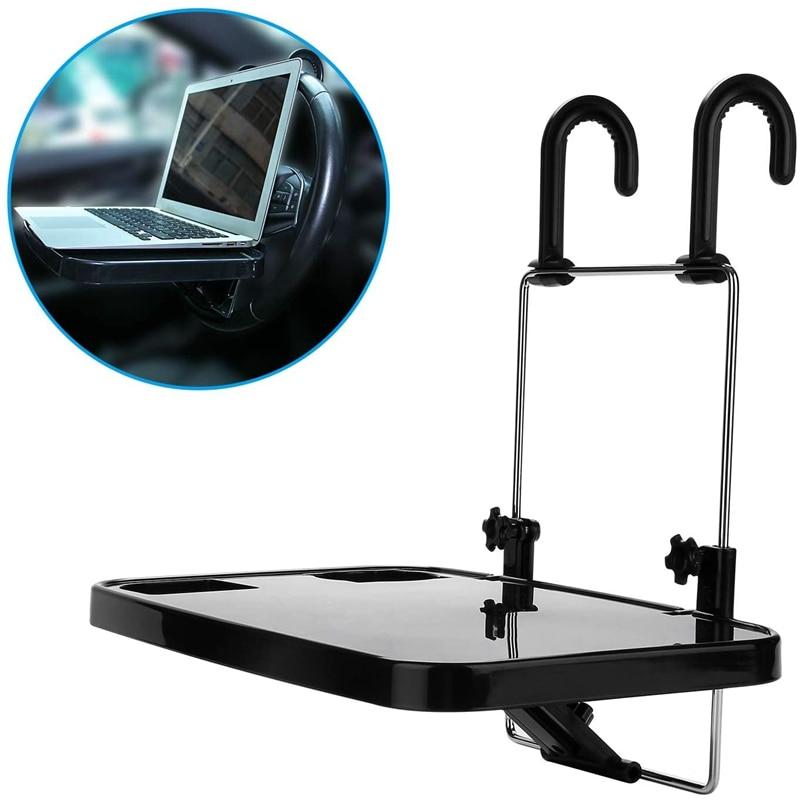 Car Desk Laptop Computer Bracket Table Steering Wheel Universal Portable Eat Work Drink Seat Tray Coffee Holder Car Mounts