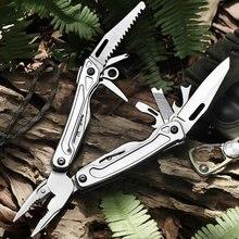 Multifuncional ferramentas edc viu abridor de garrafa fio cabo cortador multitool alicate sobrevivência acampamento faca dobrável ferramenta mão alicate
