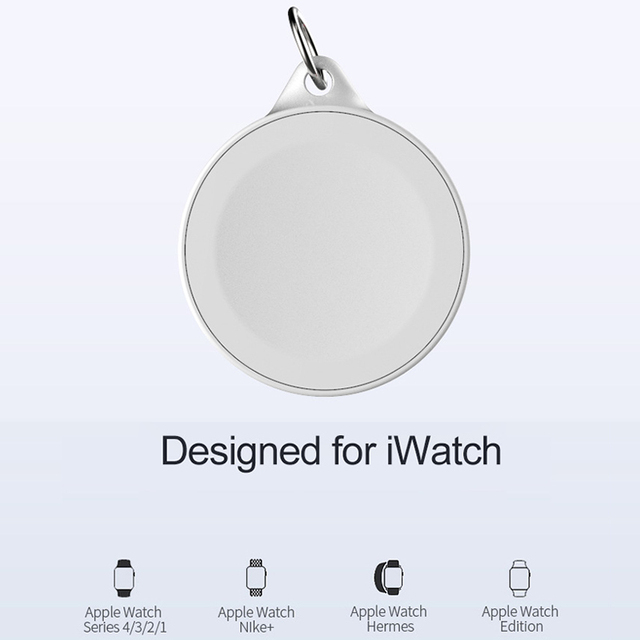 Portable Watch Wireless Fast Charger for Apple iWatch 4 3 2 2W Wireless Quick Key Ring Watch Magnetic Charging for iWatch 2 3 4