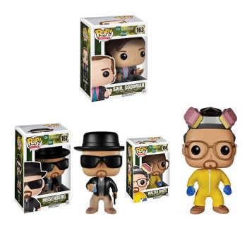 FUNKO POP Breaking Bad HEISENBERG SAUL GOODMAN Vinyl Action Figures Collection Model Toys for Children Birthday gift