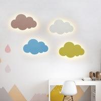 15W Modern Cloud Wall Lamp Lights White Pink LED Wall Mounted Living Room Girl Children Bedroom Light Decoration 110v 220