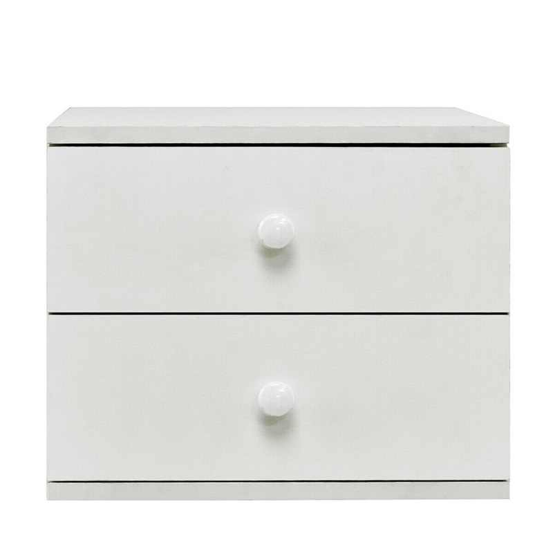13 Bedroom Nightstand Bedside Cabinet With 2 Drawers White