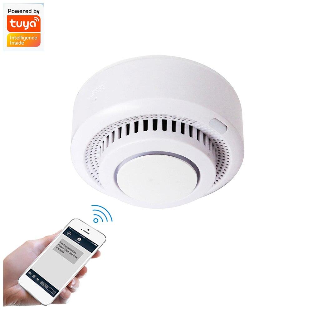 Датчик дыма Tuya с Wi-Fi и управлением через приложение