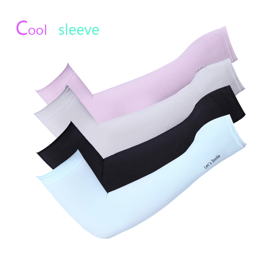 1 Pair UV Protection Cooling Or Warmer Arm Sleeves For Men Women Kids Sunblock Protective Gloves Running Golf Cycling Driving