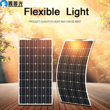 цена на flexible Solar panel 100w 12V battery charger kit Monocrystalline solar cell for 1000w solar battery system china travel RV car