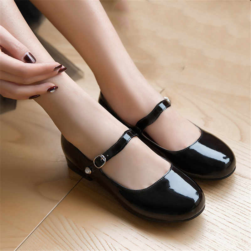 mary jane flat shoes ladies