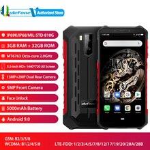 هاتف ذكي من Ulefone Armor X5 مفتوح الوجه يعمل بنظام الأندرويد 9.0 بشاشة 5.5 بوصة ثماني النواة وذاكرة قراءة فقط 3 جيجابايت وذاكرة قراءة فقط 32 جيجابايت وكاميرا 13 ميجابكسل + 5 ميجابكسل بشريحتين وذاكرة وصول عشوائي 4G
