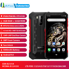 "Ulefone Armor X5 Face Unlocked Mobile Phone Android 9.0 5.5"" Octa Core RAM 3GB ROM 32GB 13MP+5MP Camera Dual SIM 4G Smartphone"