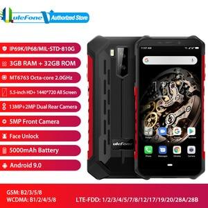 "Image 1 - Ulefone Armor X5 Face Unlocked Mobile Phone Android 9.0 5.5"" Octa Core RAM 3GB ROM 32GB 13MP+5MP Camera Dual SIM 4G Smartphone"