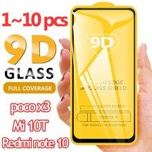стекло, Redmi k30s Tempered Glass poco x3 Screen Protector for xiaomi mi 10 t pro glasses mi10t lite 5g glass film redmi note 10