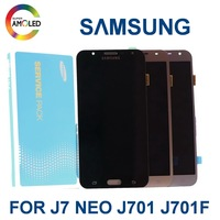 100% 5.5'' Original Super AMOLED For SAMSUNG Galaxy J7 Neo J701 J701F J701M J701MT LCD Display Touch Screen Digitizer Assembly