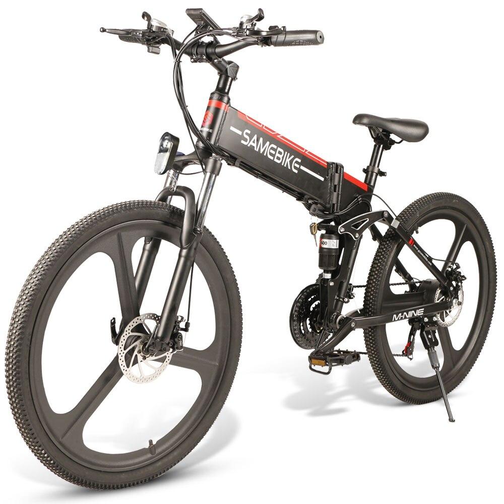 [Прямой эфир] SAMEBIKE LO26 350 Вт Электрический скутер электрический велосипед Умный складной велосипед 10.4Ah 48 V, минус 30 км/ч, Макс Скорость светиль...
