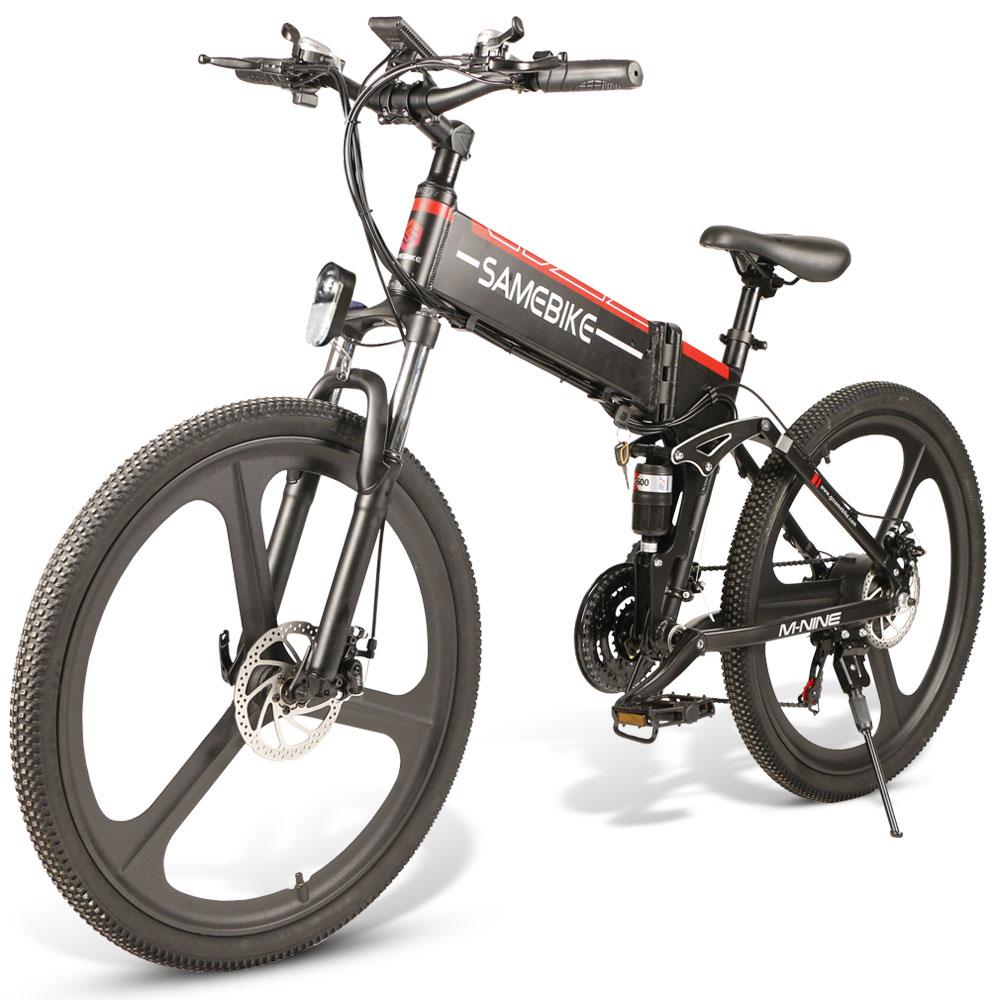 [EU Direct] SAMEBIKE LO26 350W Moped Electric Bike Smart Folding Bike 10.4Ah 48V 30km/h Max Speed Light