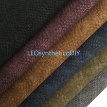 Sheets Fabric Making-Bows Snake Faux-Leather Suede Vintage PU for Leosyntheticodiy T420