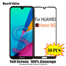 10PCS Screen Protector Tempered Glass 100% Full Cover For Huawei Honor 8S Scratch Proof Protective Glass Case For KSE LX9 Film(China)