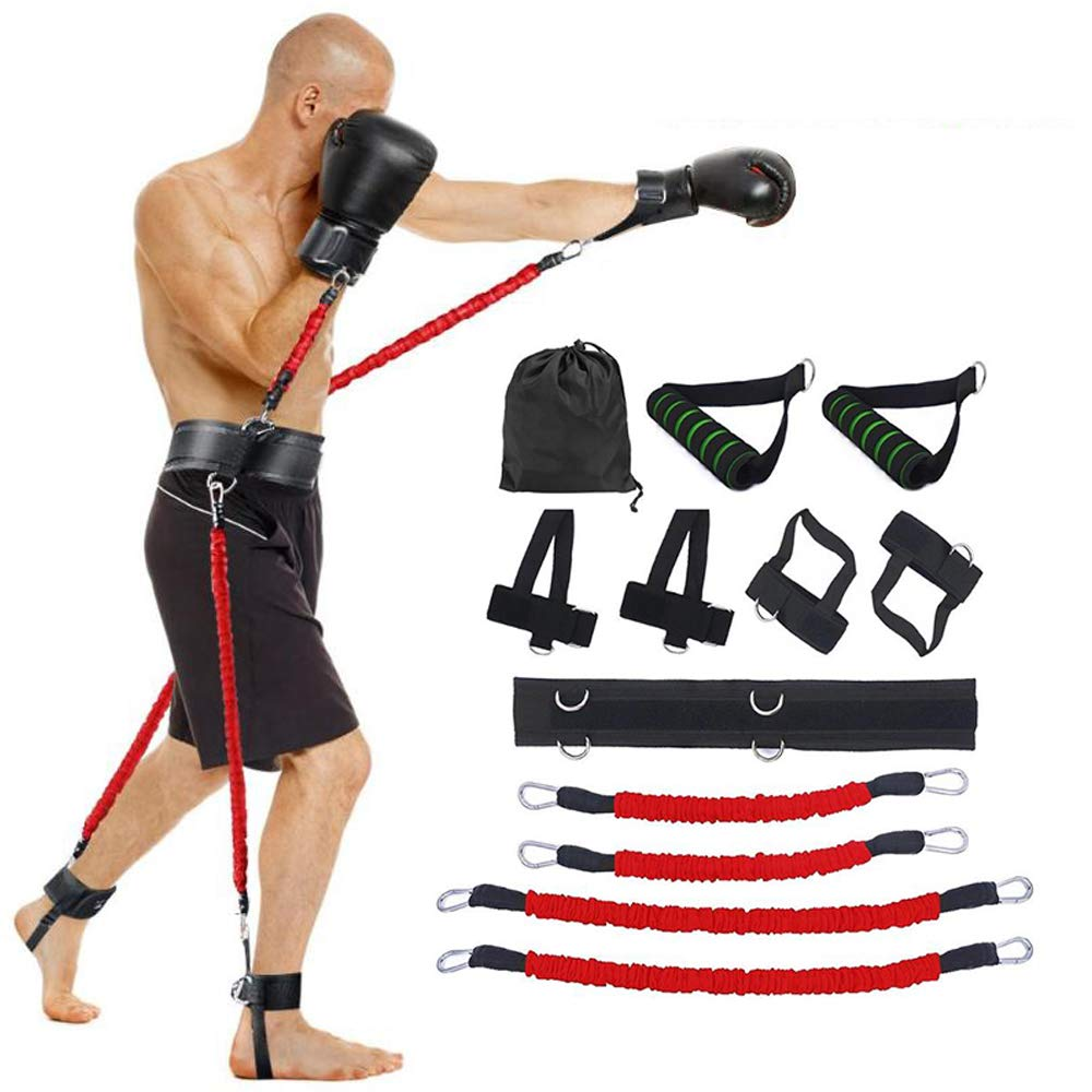 2020 New Sports Fitness Bounce Trainer Leg Resistance Band Set Boxing Exercise Belt For Strength Training Workout Bouncing Bands