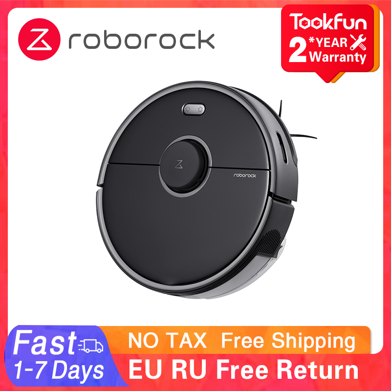 Global Roborock S5 Max Robot Vacuum Cleaner Wet Dry Smart Home Mopping Sweeping Dust Sterilize APP WIFI 2021 Laser Navigation