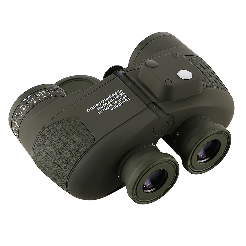 Image 5 - 10x50 Binoculars Nautical Compass Waterproof Telescope with Night Vision HD Professional Optical Telescope Military Standard-in Monocular/Binoculars from Sports & Entertainment