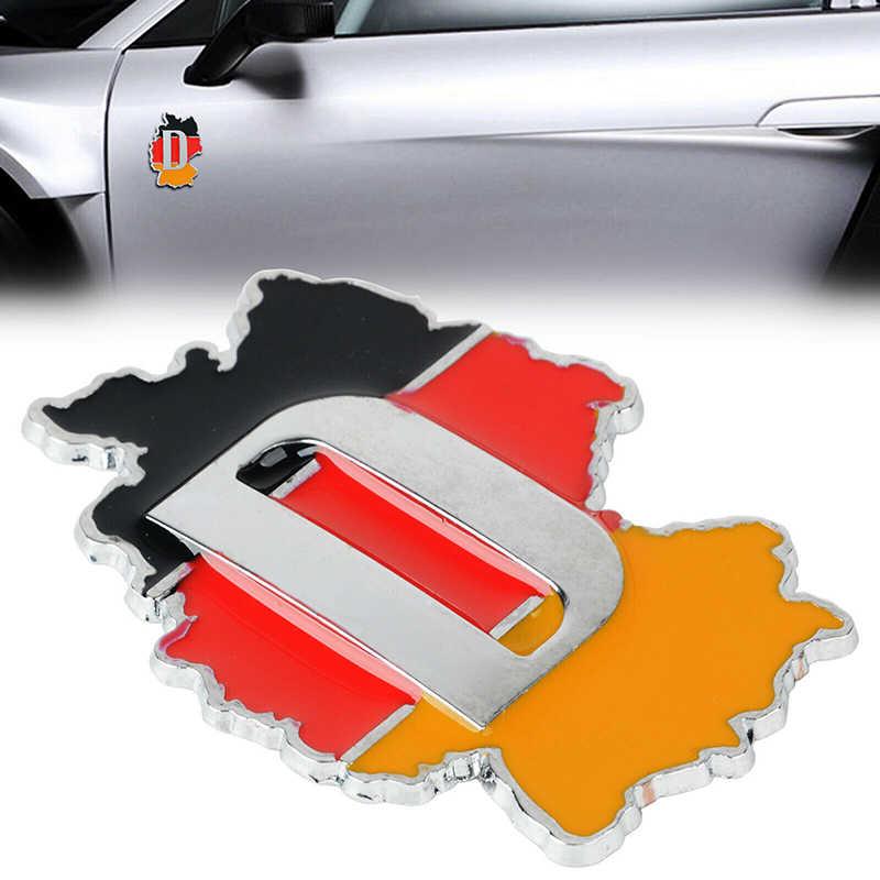 Pegatina de Metal 3D para ventana, parachoques, decoración del cuerpo, emblema de la bandera alemana, pegatina de coche Deutsch