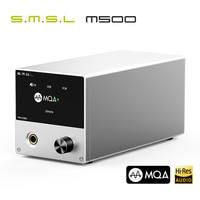 SMSL M500 DAC MQA ES9038PRO ES9311 XMOS XU-216 32bit 768kHz DSD512 o wysokiej rozdzielczości dekoder dźwięku i wzmacniacz słuchawkowy