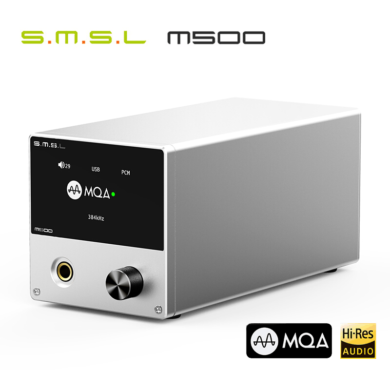 SMSL M500 <font><b>DAC</b></font> MQA ES9038PRO ES9311 XMOS XU-216 32bit 768kHz DSD512 Hi-Res Audio Decoder & Headphone Amplifier image
