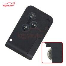 Remote smart Key card 433Mhz PCF7947 3 button for Renault Megane II  Megane 2 Scenic II Grand Scenic II 2004 2005 2006 kigoauto