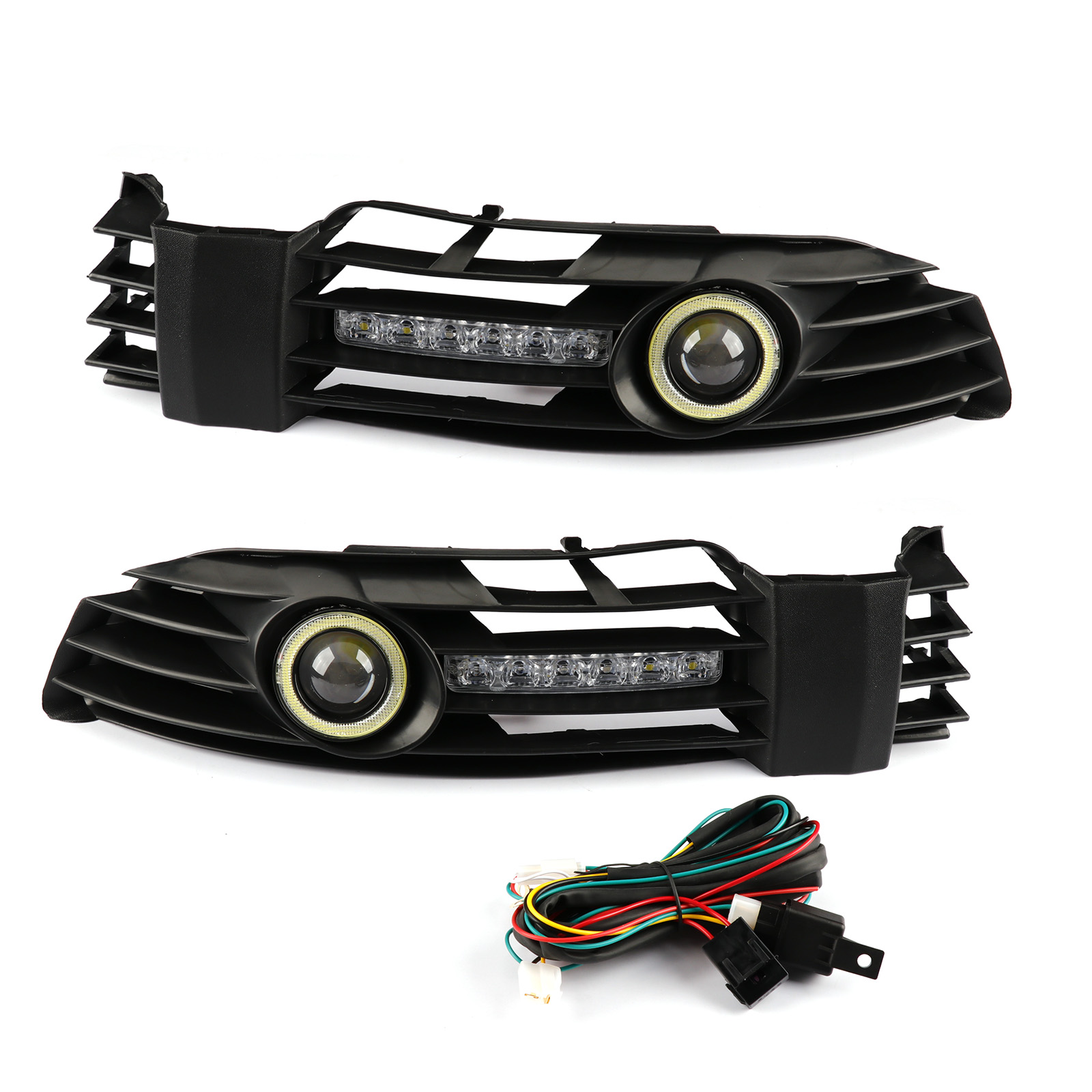 Pair DRL Front Bumper Grille Fog <font><b>Light</b></font> w/<font><b>LED</b></font> For <font><b>VW</b></font> Volkswagen <font><b>Passat</b></font> <font><b>B5</b></font>/<font><b>B5</b></font>.5 2001 2002 2003 2004 2005 image