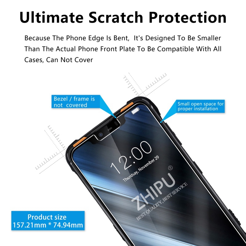 "Image 5 - 25 Pcs Tempered Glass For Doogee S90 Pro 6.18"" Glass Screen Protector 2.5D 9H Tempered Glass For Doogee S90 Protective FilmPhone Screen Protectors   -"