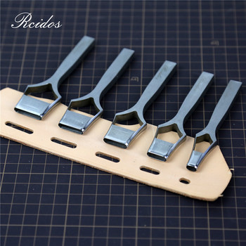 5x8/16/20/22/25mm Manual DIY Leather Belt Flat Hole Puncher,RCIDOS Bag Punching Cutter,Stainless Steel,1pcs Price