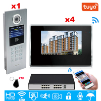 Tuya Smart APP Supported 960P WiFi Video Door Phone IP Video intercom Security Home Access Control System Keypad/IC Card/POE