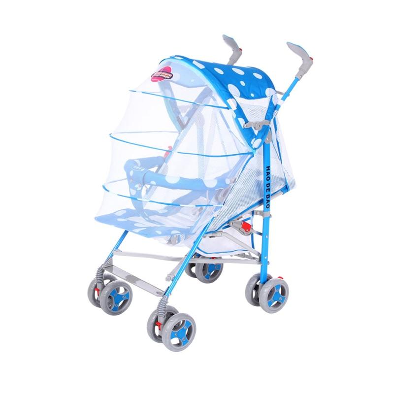 Good Debao Baby Stroller Portable Folding Can Sit And Lie Cart Mosquito Net Net Mat Umbrella Car Summer Stroller