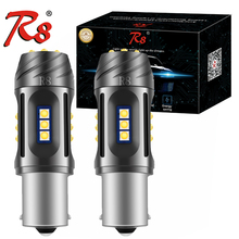 R8 Car No Hyper Flash Amber Yellow White W21W T20 1156 PY21W 7440 LED Bulbs For Turn Signal Lights Canbus 12V 18SMD 2500 Lumens