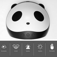 F.Lashes 36W Panda Uv Lamp Gel Nail Polish Curing Led Nail Lamp Manicure Machine With Sensor USB Charge Nails Dryer Art Tools(China)