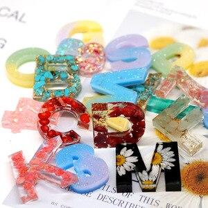 Image 2 - Snasan 1 Pc Siliconen Mal Big Size Letters Nummer Hars Siliconen Mal Hanger Handgemaakte Diy Sieraden Maken Tool Epoxyhars