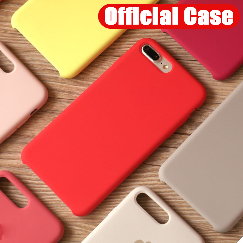 Original Official Silicone Case For Iphone 7 8 Plus For Apple Cover For IPhone XR Xs
