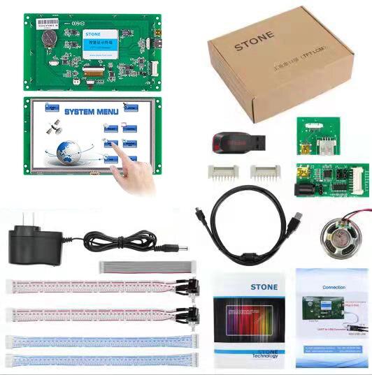 5 дюймов HMI TFT ЖК-дисплей модуль с RS232/RS485/ttl/USB интерфейс и контроллер + сенсорный экран