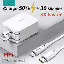 ESR USB C Fast Charger 18W Wall Plug Travel Quick Type C Type c PD Charger for iPad iPhone 11 X XR XS Max EU US UK Wall Charger