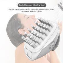 USB Перезаряжаемый шампунь, массажная расческа, Электрический массажер для головы, водонепроницаемый массажер для ванны и кожи головы, вибрационная щетка для релаксации