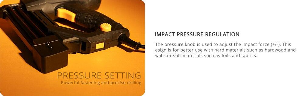 DEKO DKET02 Electric Tacker Pressure Settings