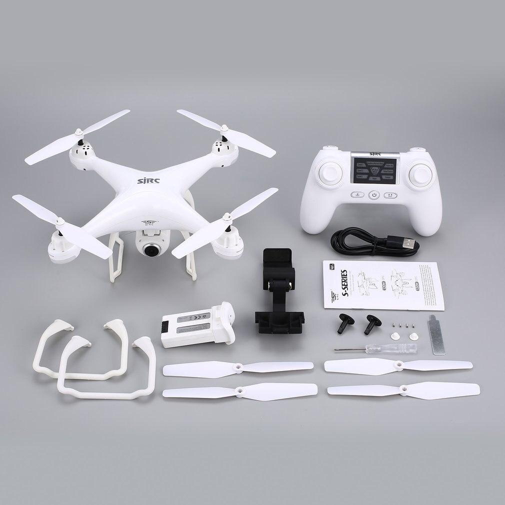 Drone RC SJ R/C S20W avec caméra FPV 1080P maintien d'altitude Selfie Mode sans tête décollage automatique/atterrissage vol stationnaire GPSRC quadrirotor