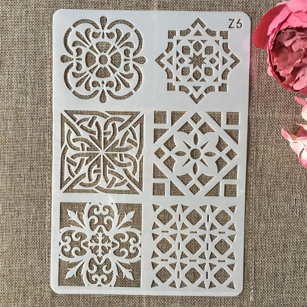 26cm Mandala Frame DIY Layering Stencils Wall Painting Scrapbook Coloring Embossing Album Decorative Card Template