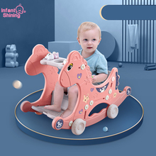 Rocking-Chair Animal Infant for 1-3Y Trojans Birthday-Gift Multifunctional Shining Baby