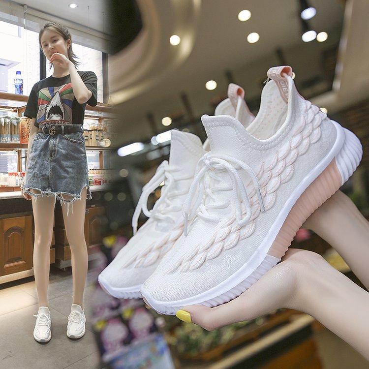 Kleine Weiße Schuhe frauen 2019 Sommer INS Mode Vielseitig Sommer Atmungsaktiv Laufschuhe Heißer Verkauf Mesh Sport Netzwerk Rot Coconu