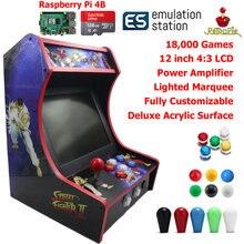 RAC B400 Mini Bartop Arcade Joystick Game Machine Cabinet Raspberry PI 4 Model B 4GB 128G Retro Game Console SF