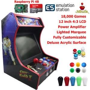 Image 1 - RAC B400 Mini Bartop Arcade Joystick Spiel Maschine Schrank Raspberry PI 4 Modell B 4GB 128G Retro Spiel Konsole SF