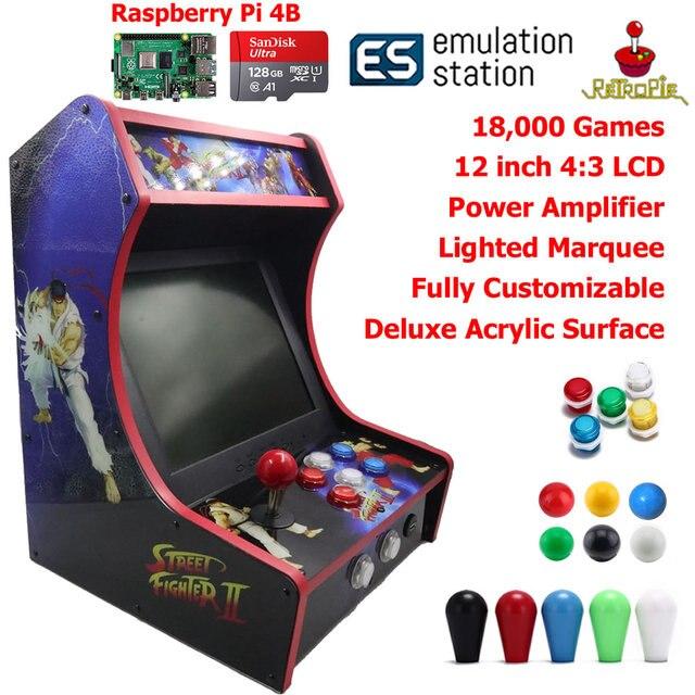 RAC B400 Mini Bartop Arcade Joystick Spiel Maschine Schrank Raspberry PI 4 Modell B 4GB 128G Retro Spiel Konsole SF